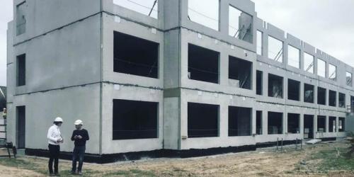 ساختمان پیش ساخته بتنی