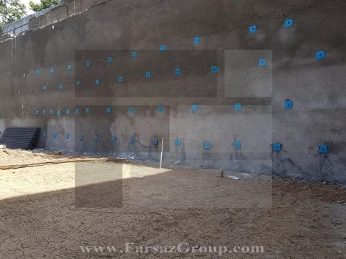 پایدارسازی دیواره گود به روش میخ کوبی در خاک (Soil Nailing)