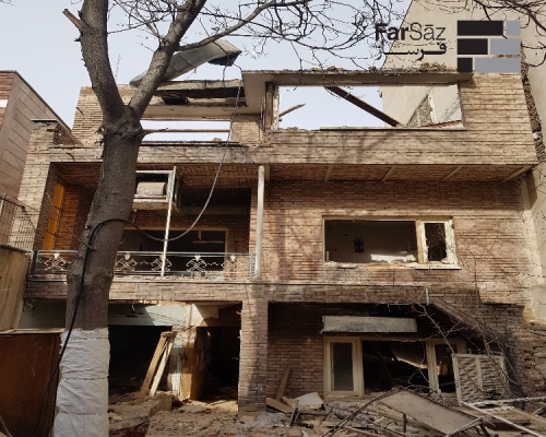 تخریب ساختمان خیابان مفتح